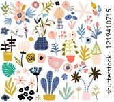 floral vector collection of... | Shutterstock .eps vector #1219410715