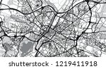 urban vector city map of angers ... | Shutterstock .eps vector #1219411918
