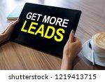 get more leads banner. digital... | Shutterstock . vector #1219413715