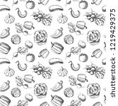 seamless pattern with... | Shutterstock .eps vector #1219429375