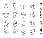 collection of christmas and... | Shutterstock .eps vector #1219451188