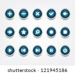 set of glossy vector icons  ...
