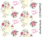 cartoon seamless pattern with... | Shutterstock .eps vector #1219460932