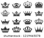 crowns for kings queens  prince ... | Shutterstock .eps vector #1219465078
