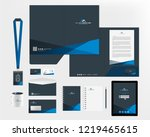 corporate identity template | Shutterstock .eps vector #1219465615