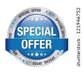 special offer blue silver... | Shutterstock .eps vector #121946752