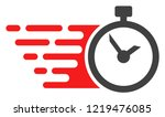 time icon with fast speed... | Shutterstock .eps vector #1219476085