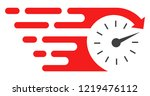 time icon with fast speed... | Shutterstock .eps vector #1219476112