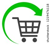repeat shopping cart icon on a... | Shutterstock .eps vector #1219476118
