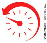 time backward icon on a white... | Shutterstock .eps vector #1219480162