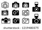 camera icons symbols contains ... | Shutterstock .eps vector #1219480375