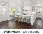 beautiful white kitchen in new... | Shutterstock . vector #1219482082