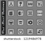 car service vector web icons on ... | Shutterstock .eps vector #1219486978