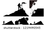 set of climber background... | Shutterstock .eps vector #1219490545
