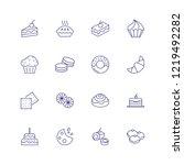 dessert line icon. set of line...   Shutterstock .eps vector #1219492282