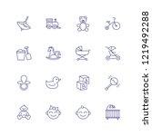 childhood icons. set of line... | Shutterstock .eps vector #1219492288