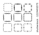 set of vector vintage frames on ...   Shutterstock .eps vector #1219493575