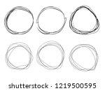 pen lines.set of scribble... | Shutterstock . vector #1219500595