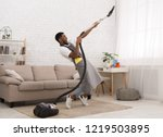 young black man having fun... | Shutterstock . vector #1219503895