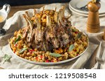 homemade holiday crown of roast ... | Shutterstock . vector #1219508548