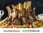 homemade holiday crown of roast ...   Shutterstock . vector #1219508638