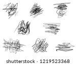 scribble brush strokes.black... | Shutterstock . vector #1219523368