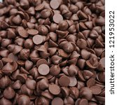 Closeup Shot Of Chocolate Chips.