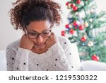 worried black young woman... | Shutterstock . vector #1219530322