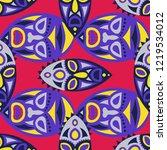 seamless pattern. indian... | Shutterstock .eps vector #1219534012