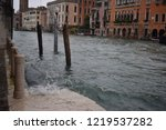 a quayside in venice during... | Shutterstock . vector #1219537282
