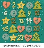 advent calendar   christmas...   Shutterstock .eps vector #1219542478