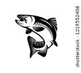 Vector Trout Fish  Fishing Sign