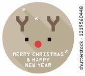 vector new year deer icon.... | Shutterstock .eps vector #1219560448