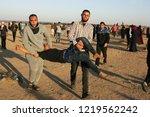 palestinian demonstrators... | Shutterstock . vector #1219562242