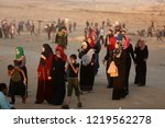 palestinian demonstrators... | Shutterstock . vector #1219562278