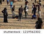 palestinian demonstrators... | Shutterstock . vector #1219562302