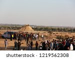 palestinian demonstrators... | Shutterstock . vector #1219562308