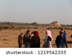 palestinian demonstrators... | Shutterstock . vector #1219562335