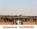 palestinian demonstrators... | Shutterstock . vector #1219562365