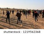 palestinian demonstrators... | Shutterstock . vector #1219562368