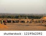 palestinian demonstrators... | Shutterstock . vector #1219562392