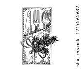 christmas envelope with... | Shutterstock .eps vector #1219565632