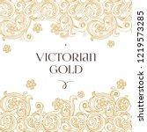 vector golden seamless border... | Shutterstock .eps vector #1219573285
