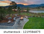 amazing backyard with fire pit | Shutterstock . vector #1219586875