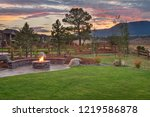 amazing backyard with fire pit | Shutterstock . vector #1219586878