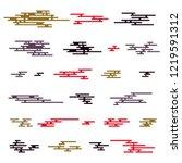 japanese pattern elements. flat ...   Shutterstock .eps vector #1219591312
