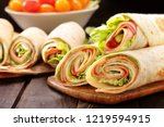 tortilla wraps with with... | Shutterstock . vector #1219594915