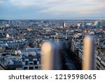 view over paris from arc de... | Shutterstock . vector #1219598065