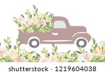 Vintage Car With Flowers....