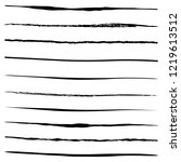 set of 10 pieces grunge edges... | Shutterstock .eps vector #1219613512